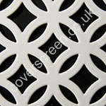 inner circular white powder coated grille