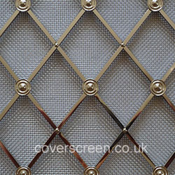 Regency Diamond Brass grilles - Polished Nickel Finish