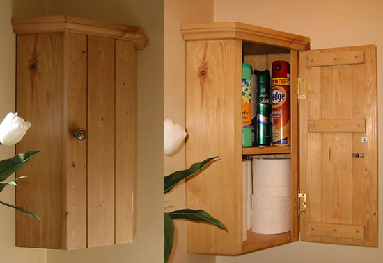Rustic Pine wall Cabintet - Practical storage
