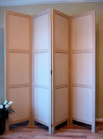 Room divider - 3 recessed panels