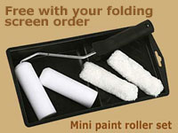 mini paint roller set