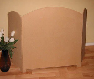 Small Decorative Folding Screen - Dome Topped